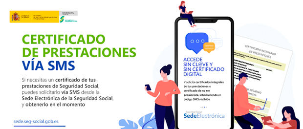 Seguridad Social facilita la descarga de certificados vía SMS